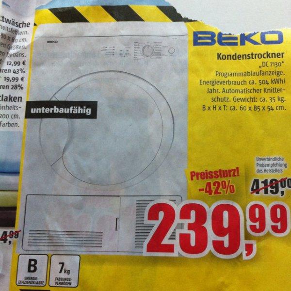 BEKO Kondenstrockner DC 7130 @Marktkauf