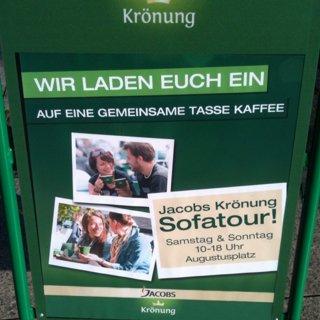 [Leipzig] Gratis Cappuccino etc. @ Jacobs Sofatour aufm Augustusplatz