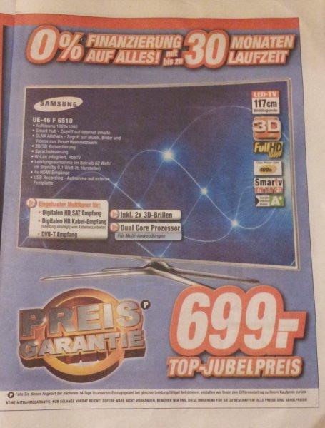 [Lokal Hannover Expert] Samsung UE46F6510 LED-TV in weiß