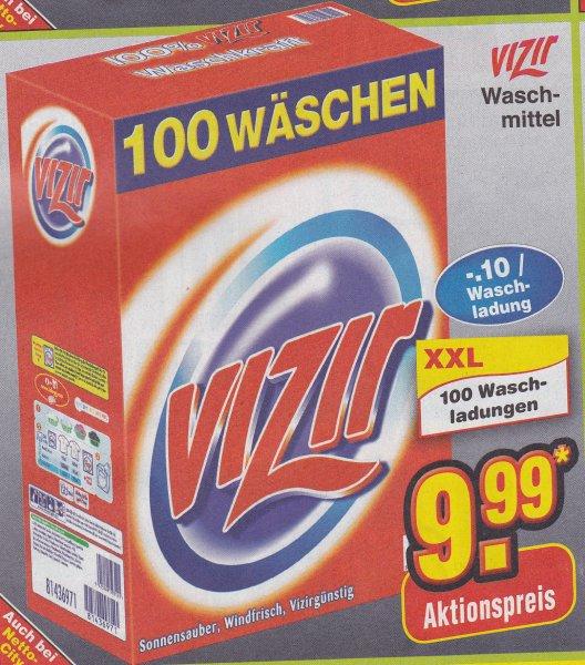 Vizir Waschmittel 100 WL für 9,99€ (0.10 / WL) nur am Samstag bei Netto Marken-Discount