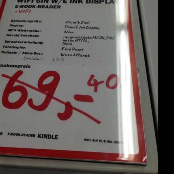 [Lokal, Siegen (NRW)], Kindle WIFI-Version ohne Touch für 40€