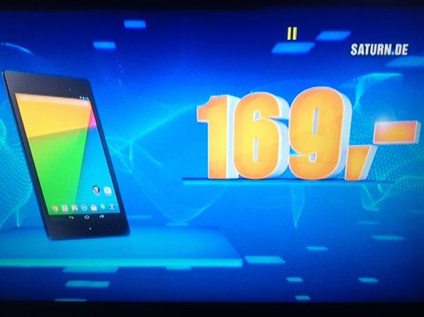 Saturn - Google Nexus 7 16gb - nur diesen Dienstag