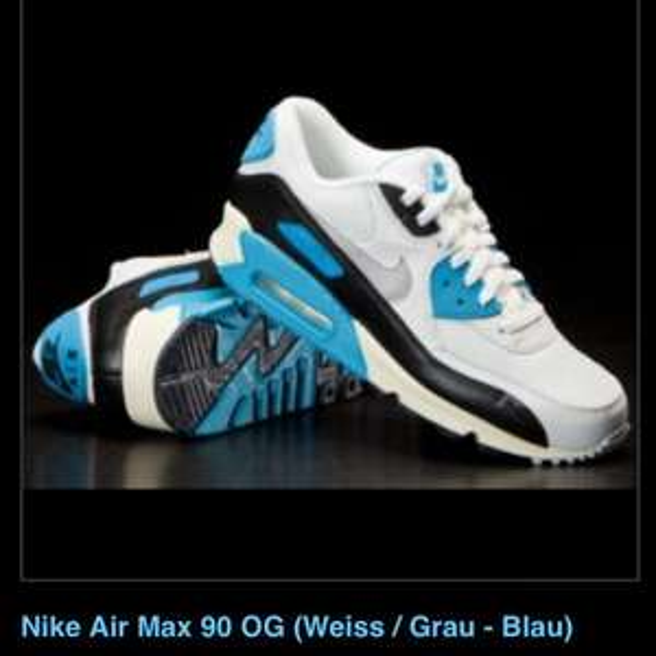 Nike Air Max 90 blau/weis 99€