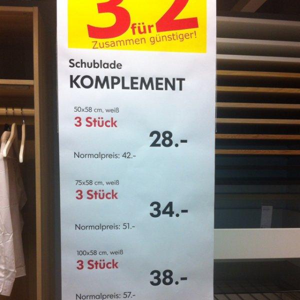 (Lokal Berlin Tempelhof) IKEA! Kauf 3 zahl 2. Komplement Schublade für PAX Kleiderschrank.