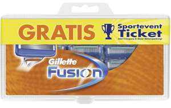 12 Gillette Fusion Klingen für nur 24,86 EUR + gratis Rasiererhalter/Aufbewahrungsbox bei amazon.de