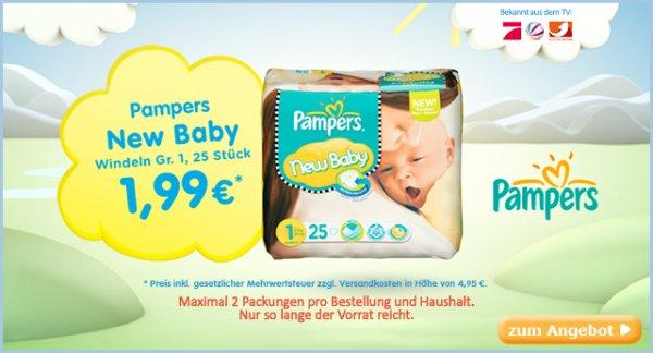 baby-markt.de: Pampers New Baby Gr. 1 nur 1,99€