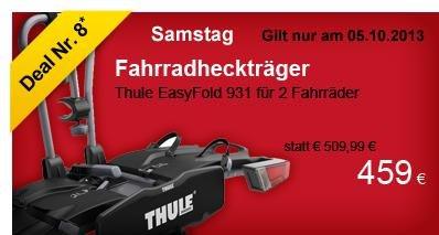 TAGESDEAL~~Thule EasyFold 931 ->nur am 05.10.2013 für 459,00€ statt 509,99€