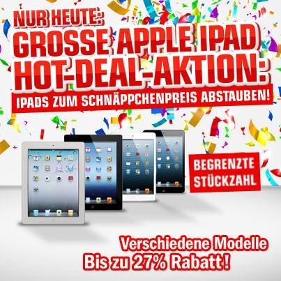 [Hot Deals - redcoon] iPads versch. Generationen zu guten Preisen
