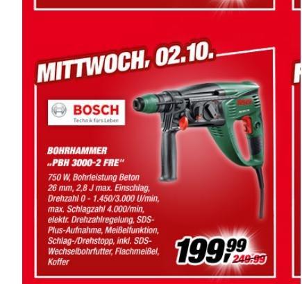 Bosch Bohrhammer PBH 3000-2 FRE