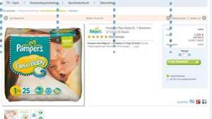 Pampers New Baby Gr. 1 New Born 25 Stk - 1,99€