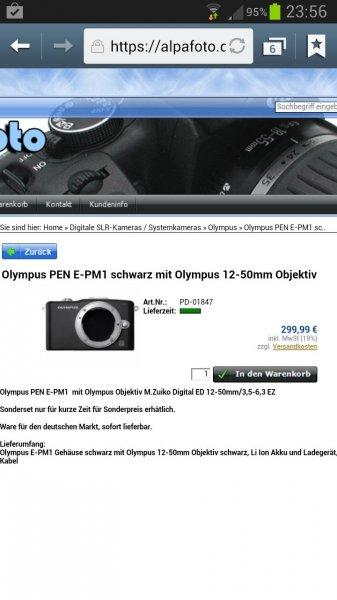 Olympus Pen mini E-PM1 mit 12-50mm
