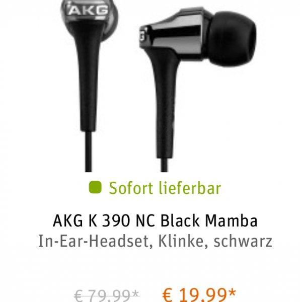 AKG K 390 Nc Black Mamba