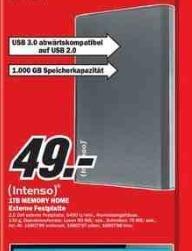 [Local Göttingen Mediamarkt] USB Festplatte IntensoMemory Home 1TB  2,5 Zoll für 49 € ab dem 4.10.2013