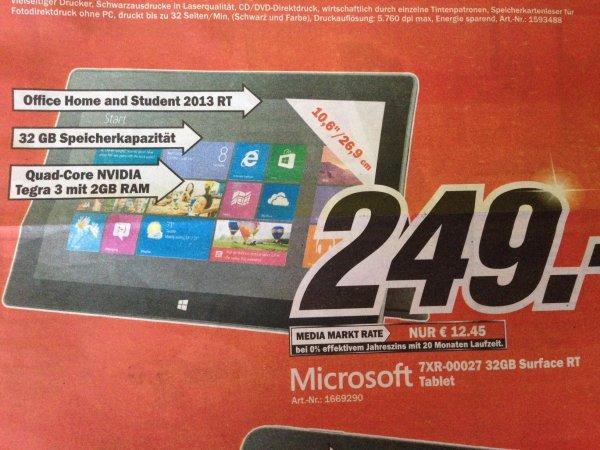 [LOKAL?] Mediamarkt KOBLENZ und NEUWIED: Microsoft 32GB Surface RT Tablet (ohne Touchcover)
