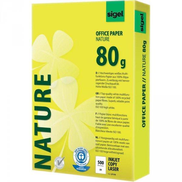 9 x 500 Blatt Sigel NATURE Recycling-Druckerpapier für 23,34€ @conrad