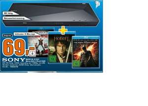 [Lokal Saturn Celle] Sony 3D Blu-ray Player BDP-S 4100 inkl. 3 Blu-ray´s