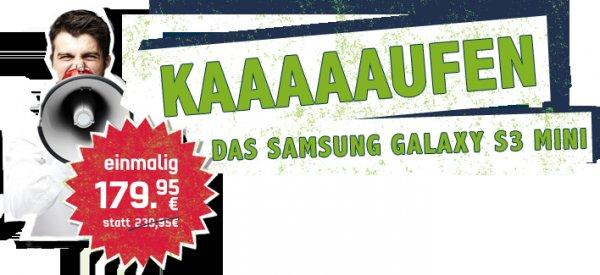 Samsung Galaxy S3 mini für 179,95€ in allen mobilcom-debitel Shops