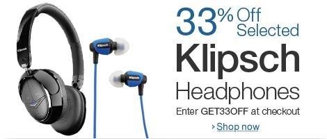 Klipsch 33% Rabatt auf Klipsh Kopfhörer @Amazon.uk