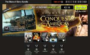 [Steam] [Bundle Stars] The Blaze of Glory Bundle - 5 Steam Spiele Commander: Conquest of the Americas Gold, WWIII Black Gold, KnightShift, East India Company Gold, WWII Panzers Claws 1 & 2