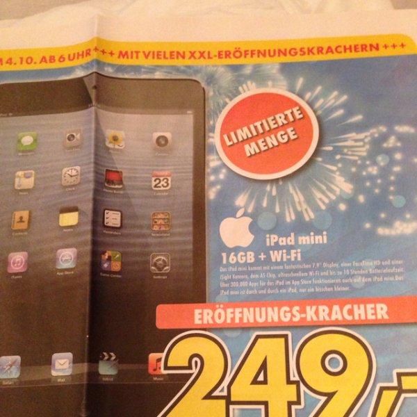 [lokal] iPad mini 16GB wifi 249€