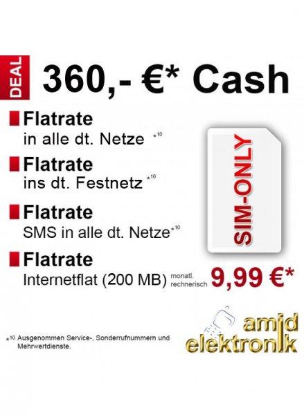 Vodafone Allnetflat, SMS-Flat und Internetflat 200MB - 9,99€ im Monat