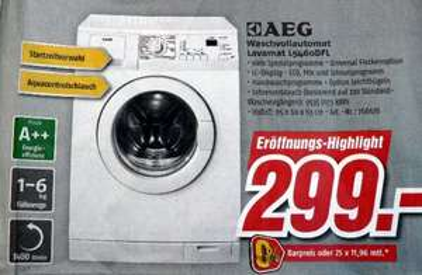 [LOKAL] AEG Waschvollautomat Lavamat L5460DFL