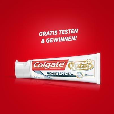 Colgate Zahncreme (19ml) gratis testen