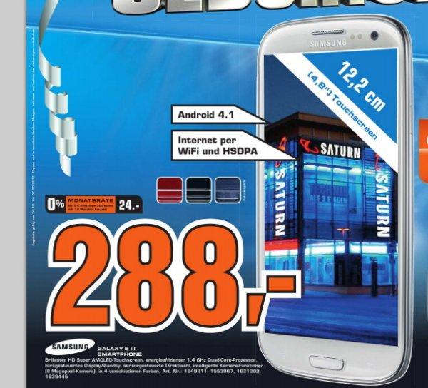 [Lokal] Samsung Galaxy S3 für 288€
