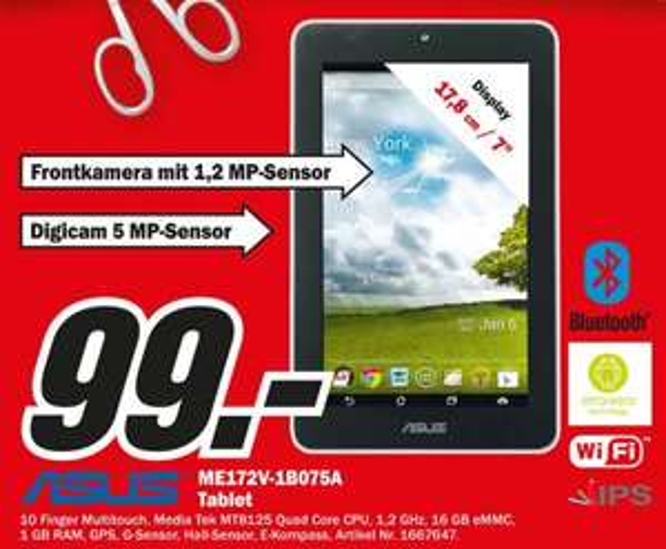 [MediaMarkt Kassel] Memo Pad 16GB