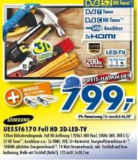[LOKAL Ratingen]  Samsung UE55F6170 Full HD 3D-LED-TV (Euronics Johann+Wittmer)