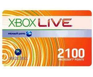 Xbox Live 2100 Microsoft Points 17,49 € @ G2A