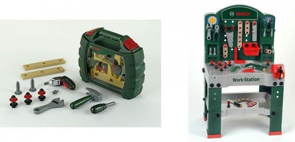 """Bosch™ - Spielzeug-Werkbank """"Work Station"""" + Werkzeugkoffer """"Ixolino"""" ab €47,46 [@Toysrus.de]"""