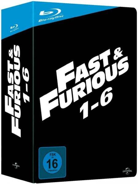 Fast & Furious 1-6 (Blu-ray Box) FSK 16 für 37€ @Digitalo