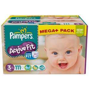 Pampers Active Fit Mega-Pack bei baby-markt.de für 19,97€