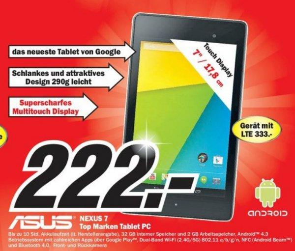 Nexus 7 32GB Wifi (2013 - 2. Generation) + weitere Smartphoneangebote im Media Markt Trier [lokal]