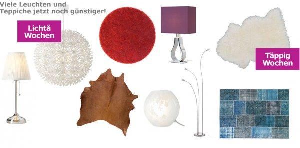 IKEA Teppiche und Lampen reduziert Offline und Online