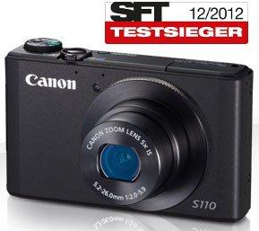 Canon PowerShot S110 schwarz 5x-Zoom (24-120mm), WLAN/WiFi, GPS-Tagging - nur 229,- € @ Ebay WOW