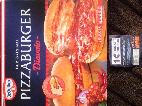 [bundesweit] Dr. Oetker Pizza Burger mit 1 Euro Rabatt-Coupon mehr als 30% günstiger