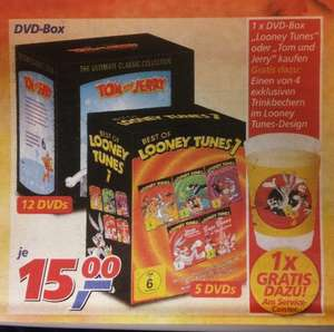 OFFLINE - Tom und Jerry Best of (12xDVD) & Looney Tunes 1 Best of (5xDVD)  jeweils 15€ plus Gratis Looney Tunes Trinkbecher@ REAL