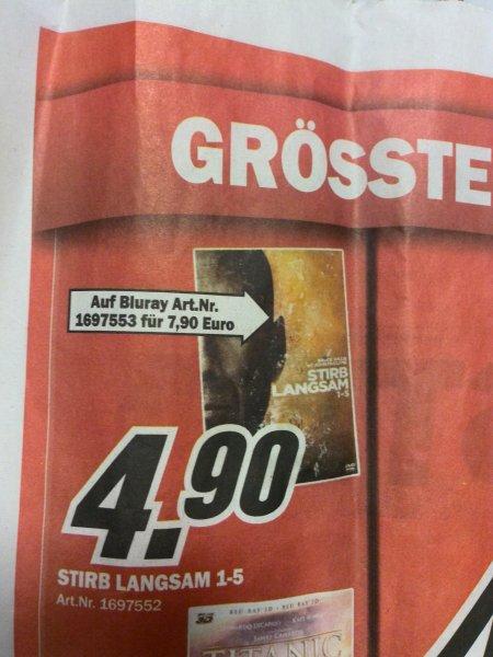 [lokal] MM Cottbus - Stirb Langsam 1-5 Blue-ray für 7,90€