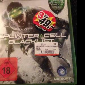 [LOKAL MM Deggendorf] Konsolenspiele 3 für 49 € mit Splinter Cell Blacklist, Crysis 3, Bioshock Infinite, Mass Effect Trilogy u.v.m.