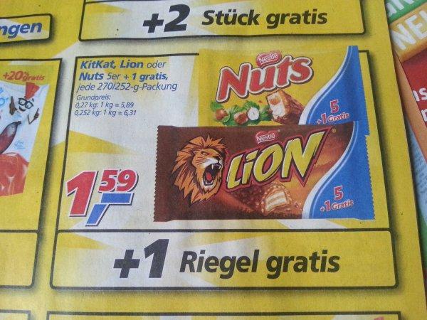 KitKat, Lion oder Nuts 5+1 Aktion Pack @Real
