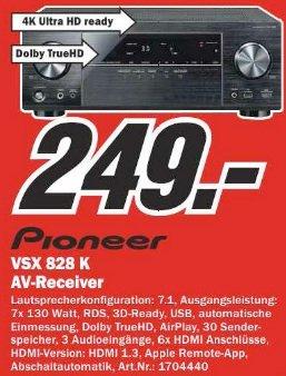 [LOKAL] MM Berlin Pioneer VSX 828 K AV-Receiver 7.1 4K AirPlay 130 Watt für 249€
