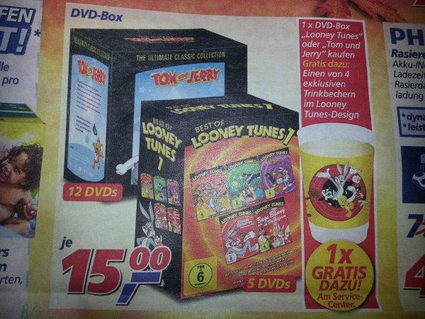 DVD Boxen Looney Tunes und Tom und Jerry + GRATIS Trinkbecher @ Real
