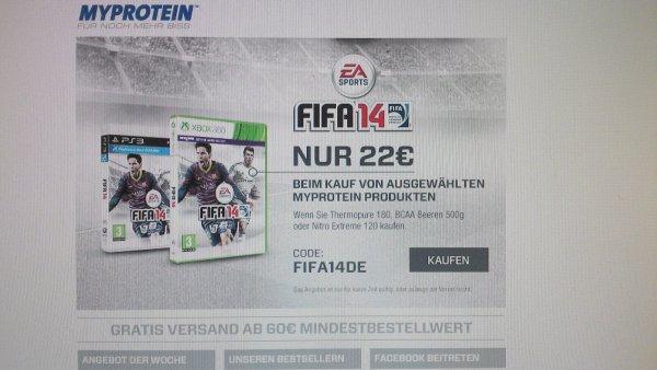 FIFA 14 für 22,00 EUR beim Kauf von ausgewählten MYPROTEIN-Produkten
