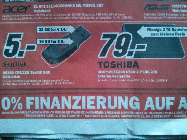 "[Lokal MM Offenburg, Baden Baden] Toshiba Stor.e Plus 2TB USB3.0 2,5"" ext. HDD"