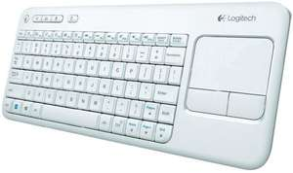 Logitech K400r kompakte Tastatur mit 9cm Touchpad weiß @digitalo