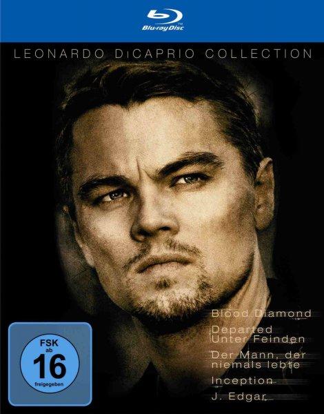 Leonardo DiCaprio Collection (Blood Diamond, Departed – Unter Feinden, Der Mann, der niemals lebte, Inception und J. Edgar) [Blu-ray] für 24,97 €