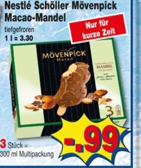 [Kaufpark] Schöller Mövenpick Macao Mandel 3er Multipack