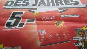 (lokal) Media Markt Bayreuth - Avira Internet Security 2013 1 Lizenz